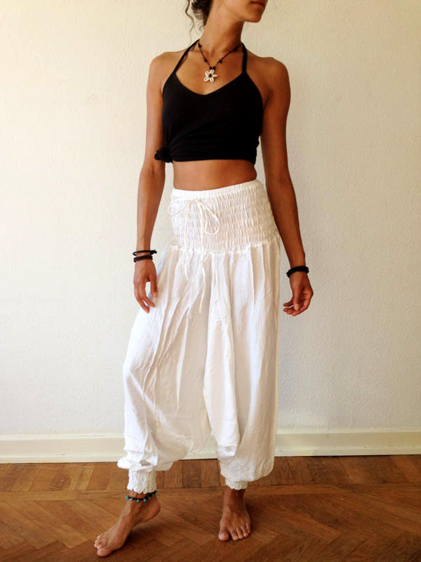 Bindi-Designs-White-Harem-Pants